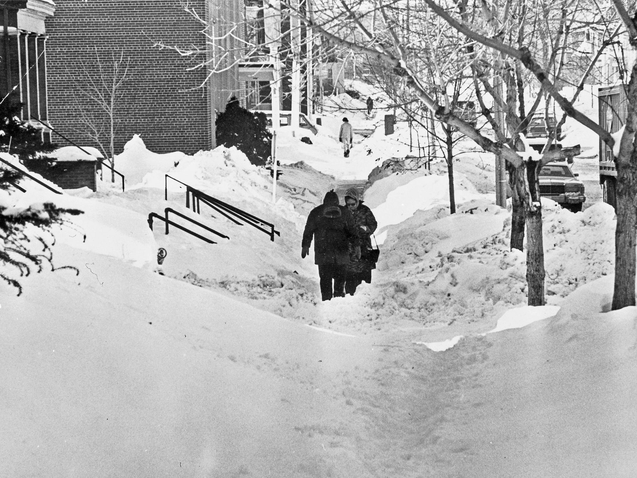 Making your way through Milwaukee sidewalks was a hit-or-miss proposition in January 1979, when three blizzards hit the city back to back.