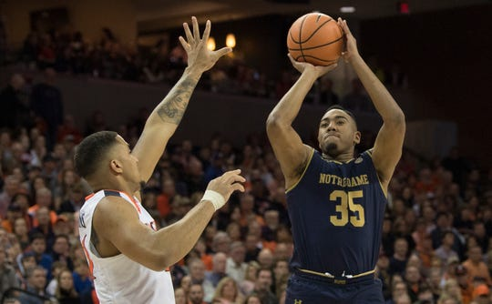 Bonzie Colson played college ball at Notre Dame.