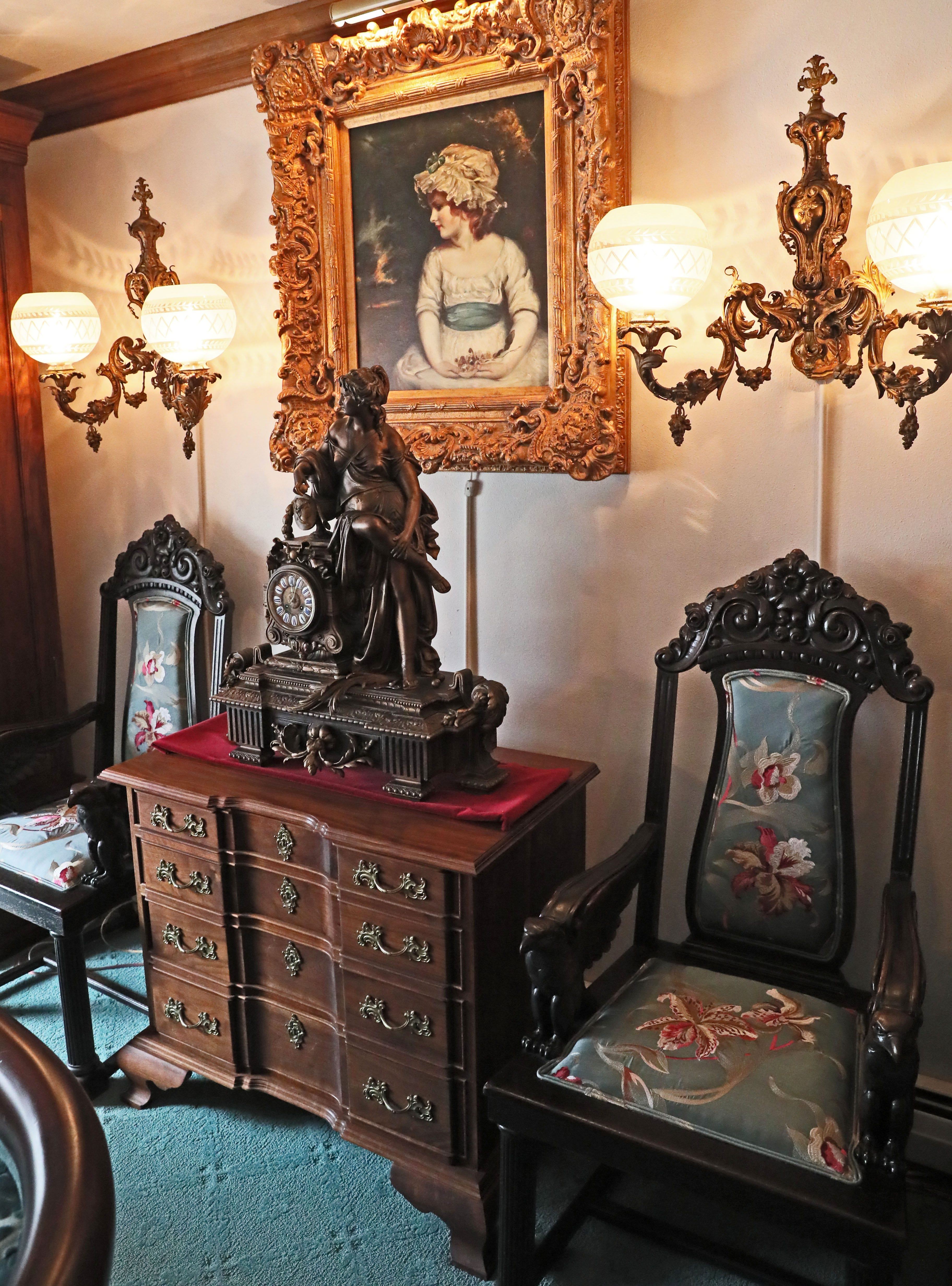 Living room antique furniture French Jim Wissing Built This Block Front Chest Of Walnut That Stands In The Living Room Milwaukee Journal Sentinel Victorian Antiques Decor Have Transformed This Suburban Ranch Home
