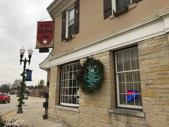 Inclement winter weather caused some roof damage at Max Meier's Hartland Inn, but the restaurant has only had to close one dining room due to the problem and is close to finishing repairs.