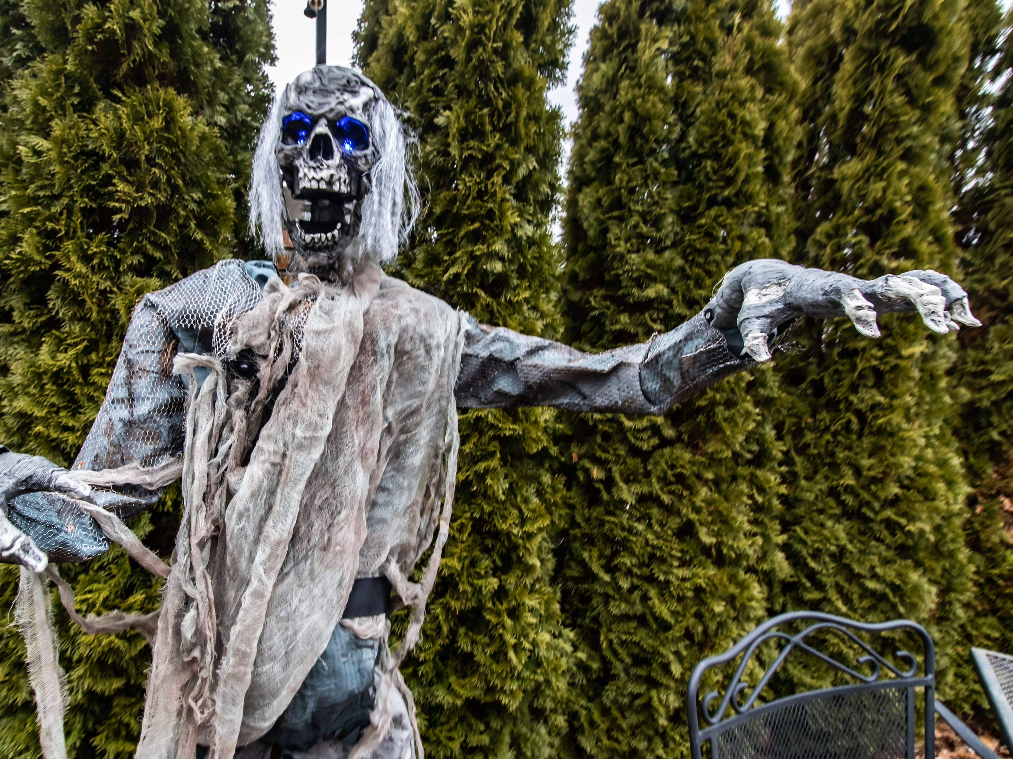 """A animatronic White Walker waits for unsuspecting victims during the """"Winter is Coming"""" pop-up bar experience at the City Lounge in Cudahy on Saturday, Jan. 12, 2019. The """"Game of Thrones"""" inspired attraction runs through Feb. 2 and features drink specials, White Walkers, ravens and a fire breathing dragon. Attendees must be 21 or older."""