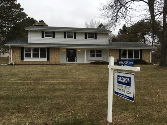 Home sales slipped 1.4 percent in the metro Milwaukee area last year.  This house in Brookfield currently is listed for sale.