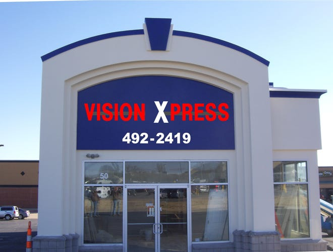 The former Papa John's building in Mountain Home is the new home of Vision Express, owned and operated by Dr. Knial Piper and his wife, Elena, of West Plains, Mo.