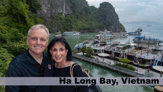 Don and Khis McKeithen of Columbia in Ha Long Bay, Vietnam.