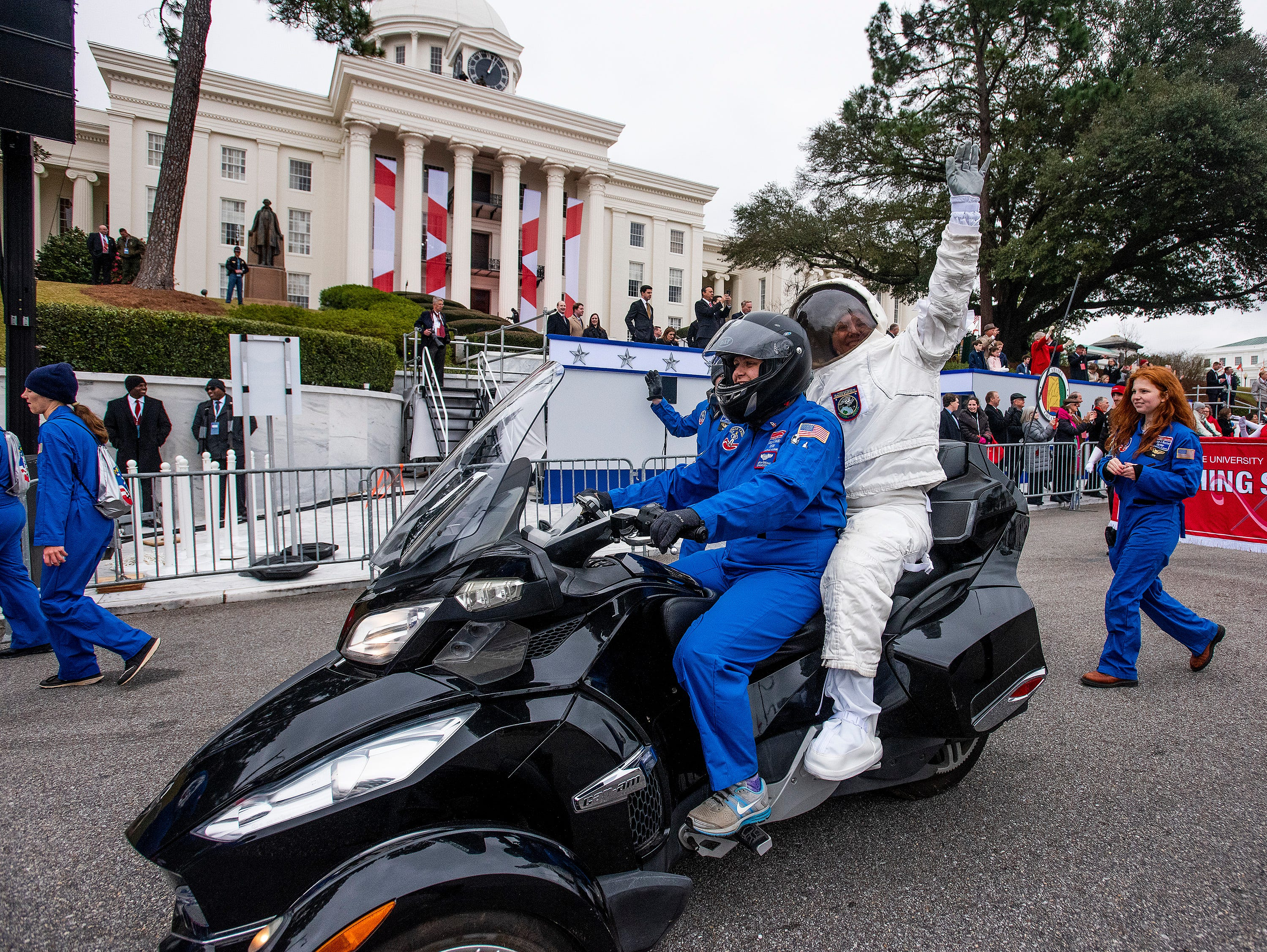 Space Camp[ is represented in the Inauguration Parade for Governor Kay Ivey in Montgomery, Ala., on Monday January 14, 2019.
