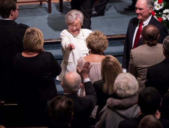 Alabama Gov. Kay Ivey during a Inauguration Day morning prayer at First Baptist Church in Montgomery, Ala., on Monday, Jan. 14, 2019.
