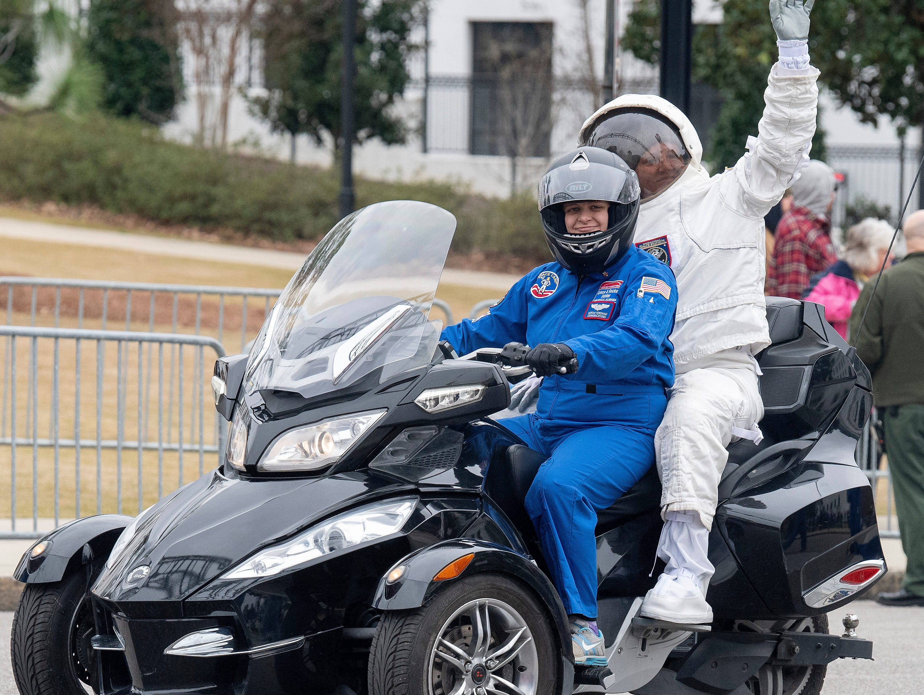 Space Camp is represented in the Inauguration Parade for Governor Kay Ivey in Montgomery, Ala., on Monday January 14, 2019.