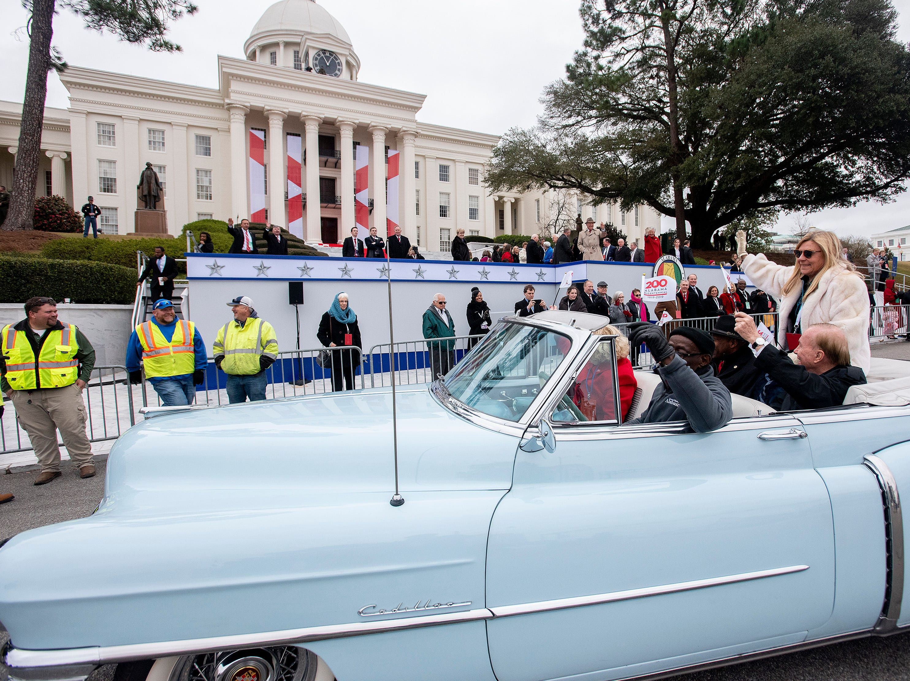 Jett Williams rides in the Inauguration Parade for Governor Kay Ivey in Montgomery, Ala., on Monday January 14, 2019.