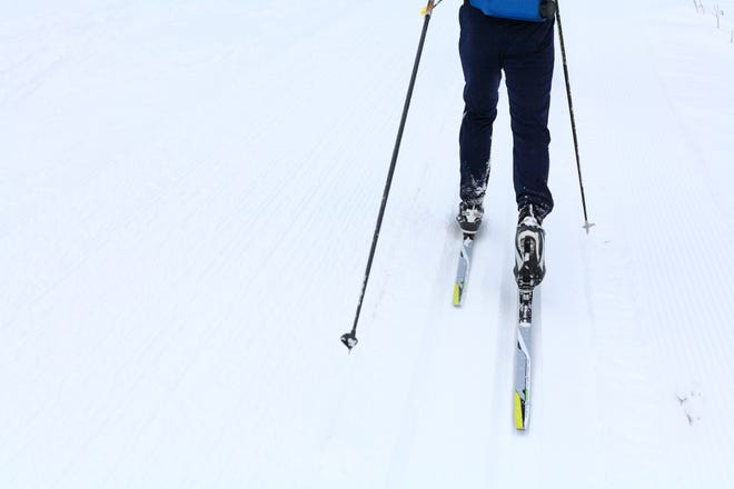 Partial view of a ski runner