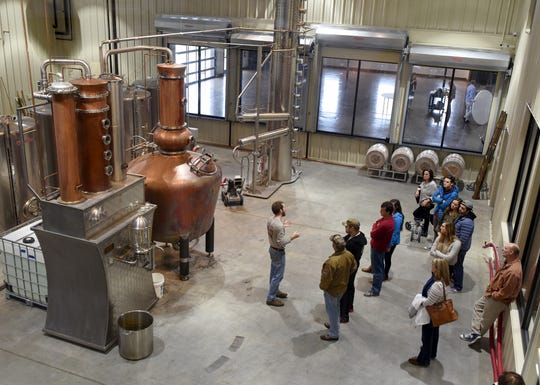 Old Glory Distilling Co. gives tours of the facility for those interested in their small-batch distilling processes.
