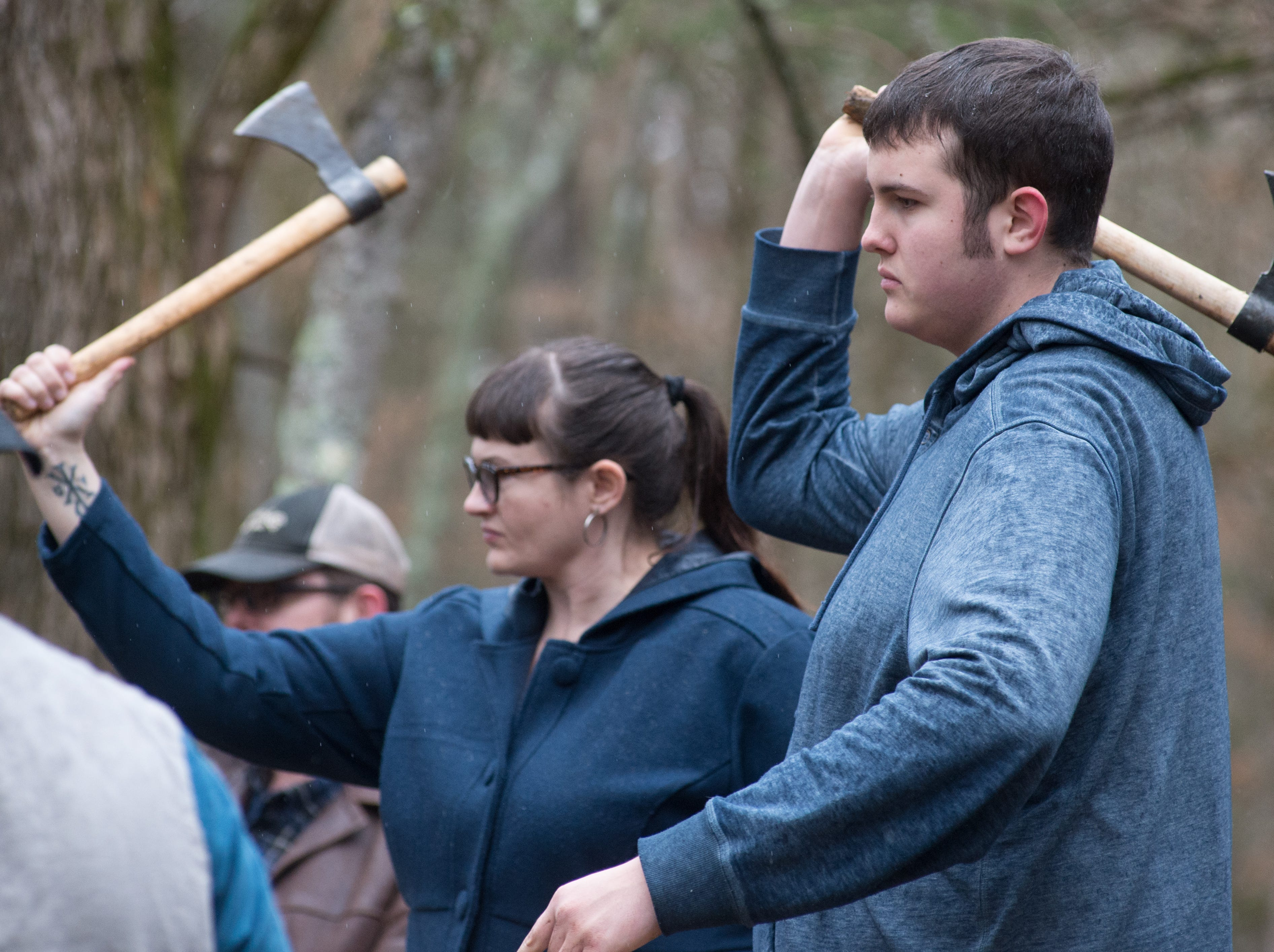 The rain didn't stop attendees from participating in a Tomahawk Throwing for Beginners event hosted by Middle Tennessee History Coalition at Bledsoe Creek State Park on Saturday, Jan. 12.