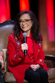"Loretta Lynn announces she will celebrate her 87th birthday in April with a concert performed by her friends Trisha Yearwood, Margo Price, Martina McBride, Alan Jackson, Brandy Clark, Darius Rucker, Garth Brooks, George Strait and many others during a press conference at the Grand Ole Opry Monday, Jan. 14, 2019, in Nashville, Tenn. The concert will be ""Loretta Lynn: An All-Star Birthday Celebration Concert"" on April 1 at Bridgestone Arena."