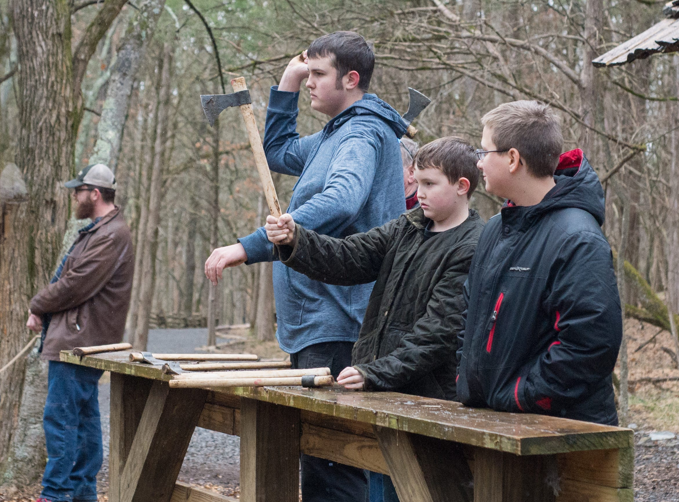 The rain did not stop attendees from participating in a Tomahawk Throwing for Beginners event hosted by Middle Tennessee History Coalition at Bledsoe Creek State Park on Saturday, Jan. 12.