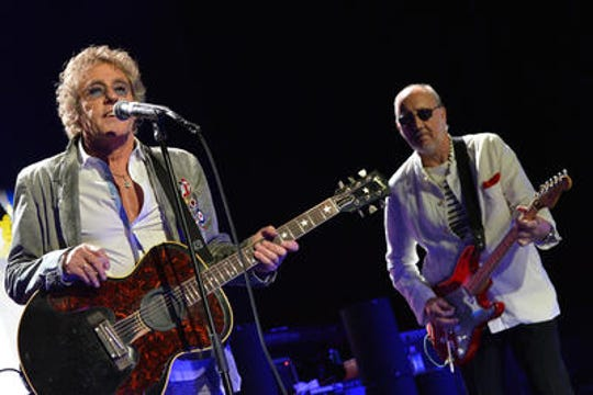 The Who's Roger Daltrey and Pete Townsend perform during the Who Cares Benefit For Teen Cancer America Memorial Sloan-Kettering Cancer Center at The Theater at Madison Square Garden in 2013 in New York City.