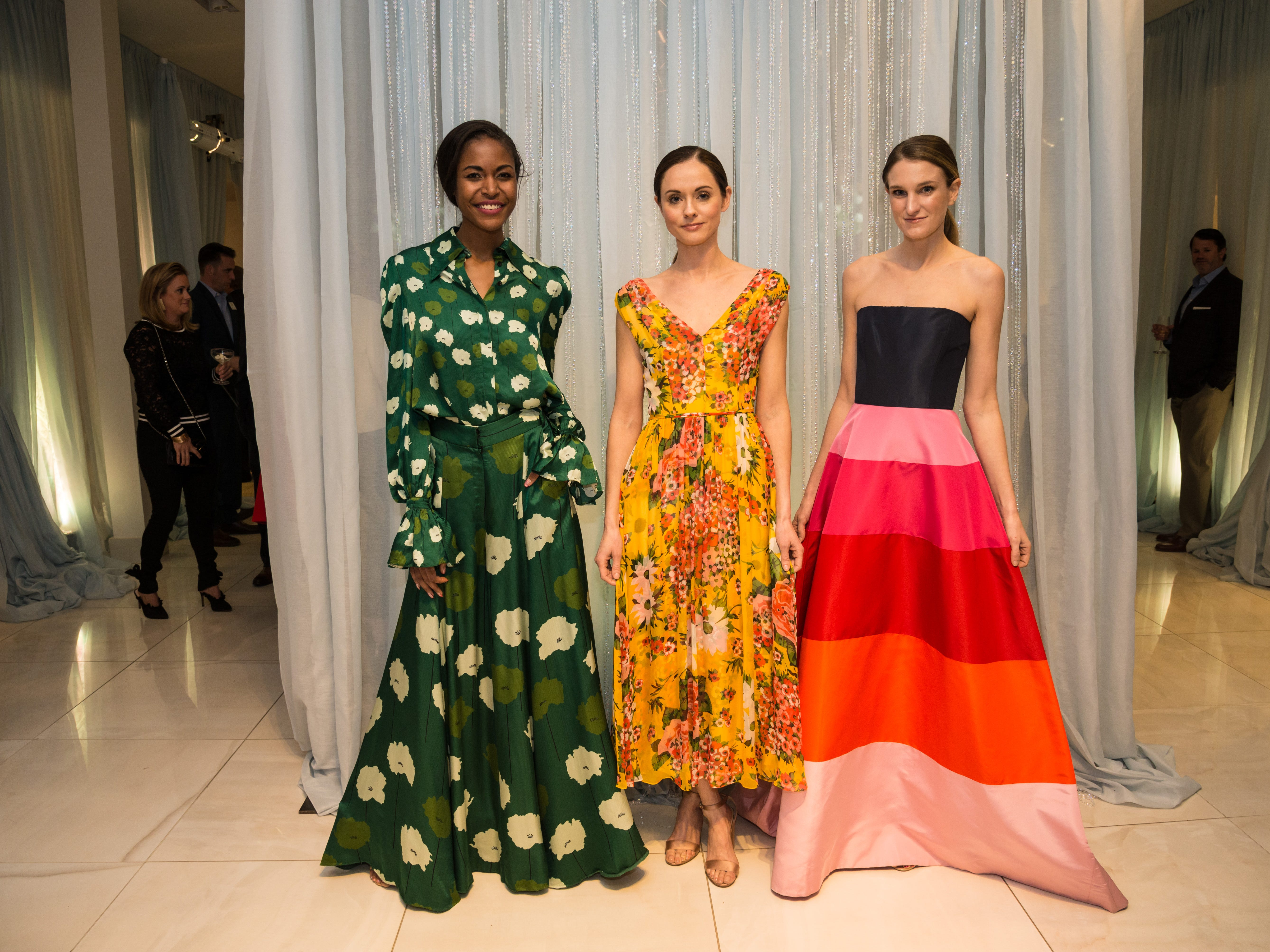 Models showcase highlights from the Carolina Herrera trunk show at the 2019 Symphony Fashion Show kickoff party.