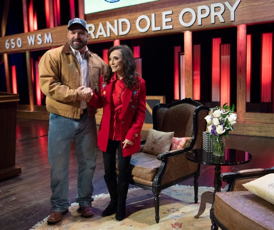 "Garth Brooks and Loretta Lynn announce she will celebrate her 87th birthday in April with a concert performed by her friends Trisha Yearwood, Margo Price, Martina McBride, Alan Jackson, Brandy Clark, Darius Rucker, Garth Brooks, George Strait and many others during a press conference at the Grand Ole Opry Monday, Jan. 14, 2019, in Nashville, Tenn. The concert will be ""Loretta Lynn: An All-Star Birthday Celebration Concert"" on April 1 at Bridgestone Arena."