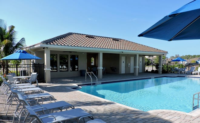 The Venetian Club at Venetian Pointe features a large pool with wrap-around deck and a fitness center.