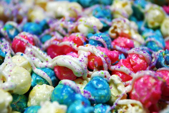 The cotton-candy-flavored unicorn popcorn has become a favorite at International Popcorn.
