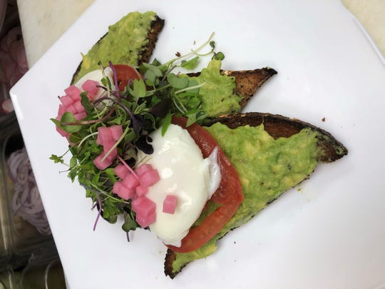 Avocado toast at Cafe Amici in Wyckoff