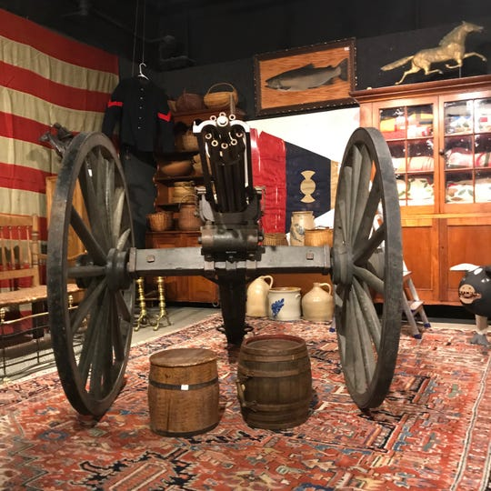 This Gatling gun sold at auction Wednesday at Nye and Company in Bloomfield.