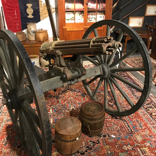 Auctioneers say this Gatlin gun may still fire and it is going up for sale on Jan. 23.