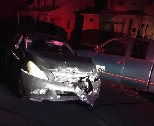The aftermath of a hit-and-run in Bloomfield Jan. 12, 2019.