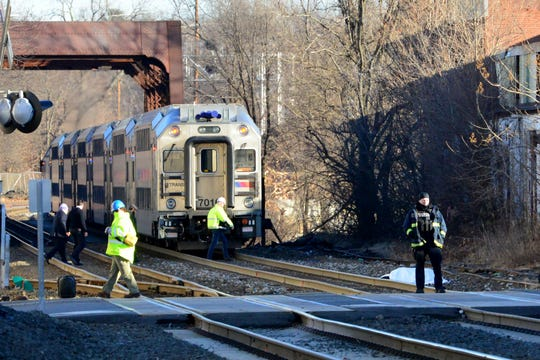 A pedestrian was struck and killed by a northbound train at 5th Ave in Paterson, on Monday January 14, 2019.