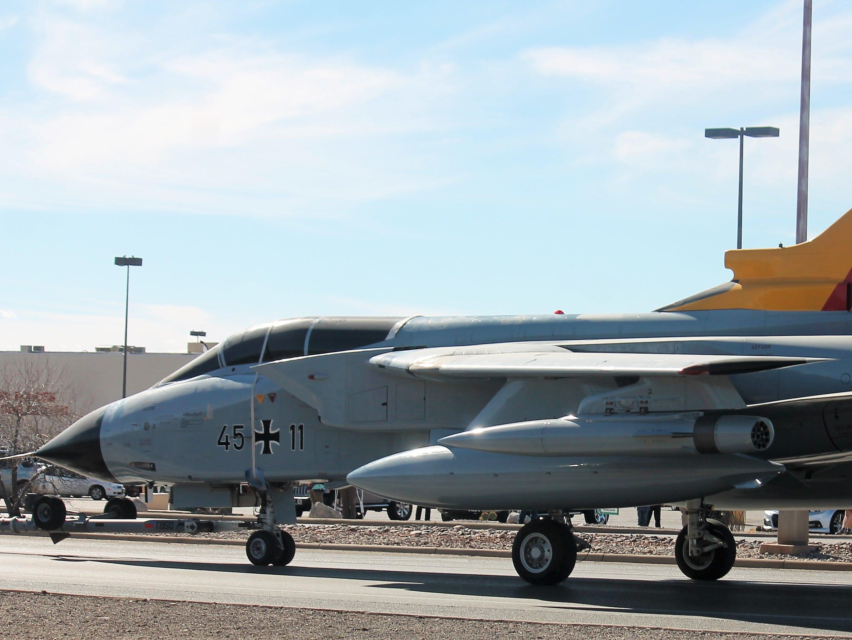 The Tornado jet arrives in Alamogordo 1 1/2 hours ahead of schedule Saturday, Jan. 12, 2019.
