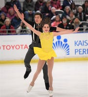 Local pairs skaters Jacob Nussle and Cora DeWyre will have the home crowd behind them at Little Caesars Arena.