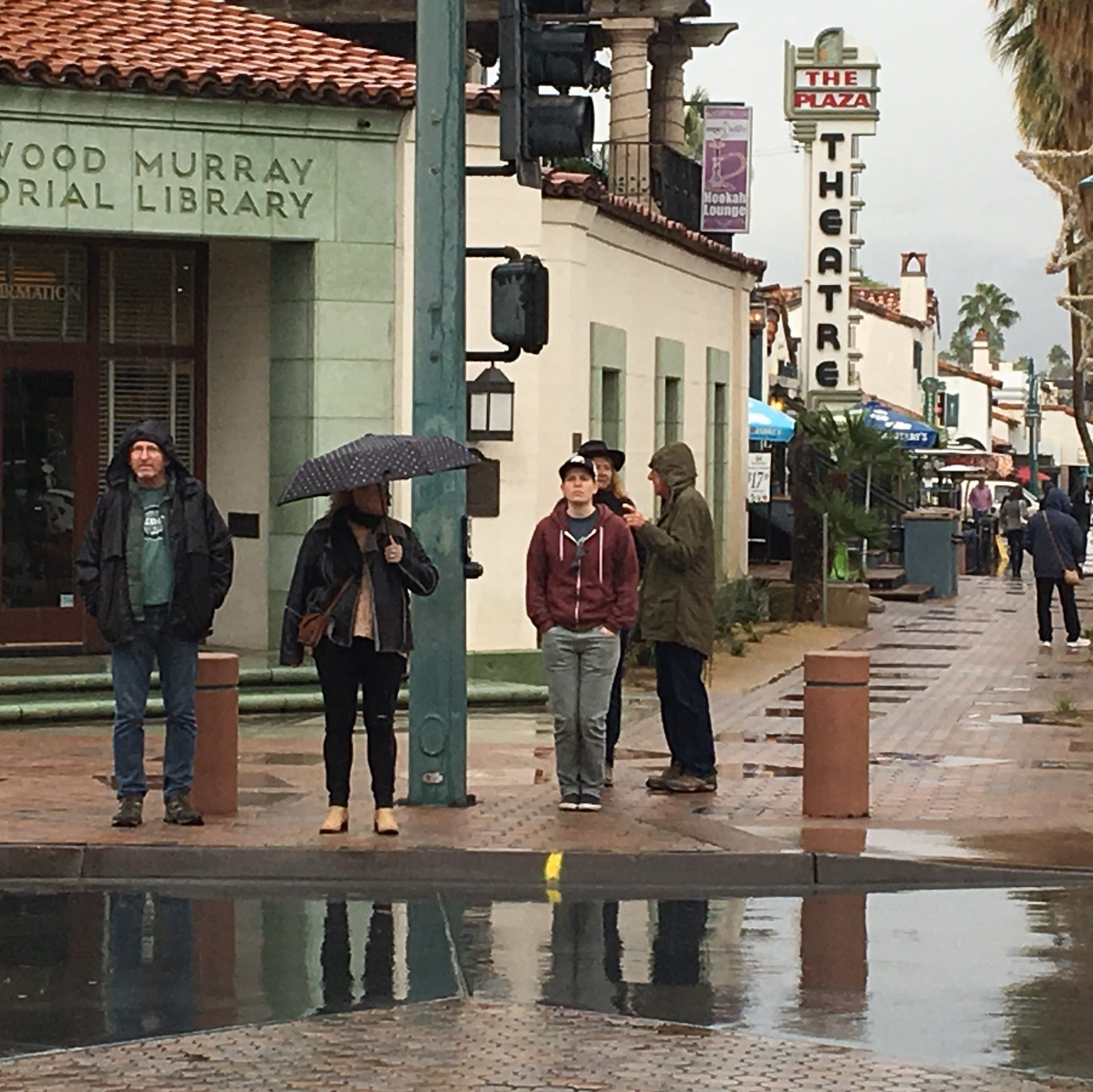 Palm Springs got more rain than expected since Monday morning. Here's how much