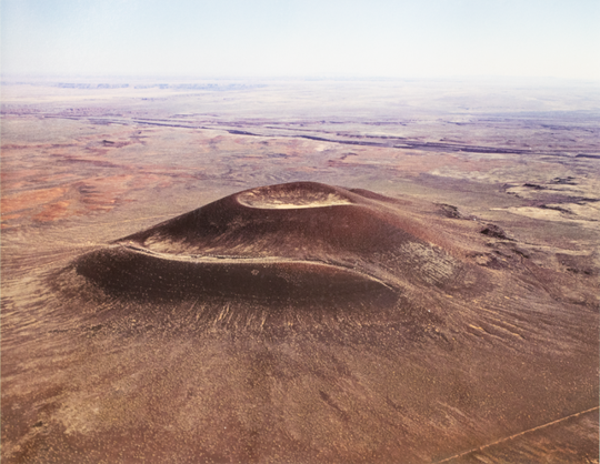 Exterior of the Roden Crater, an art installation in northern Arizona, circa the 1970s.