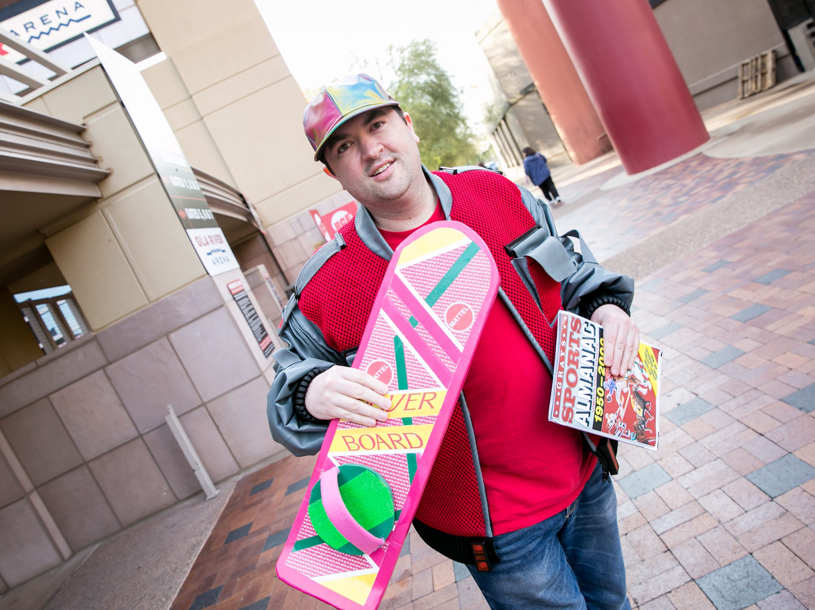 Marty McFly kept it cool during Ace Comic Con at Gila River Arena in Glendale on Sunday, Jan. 13, 2019.