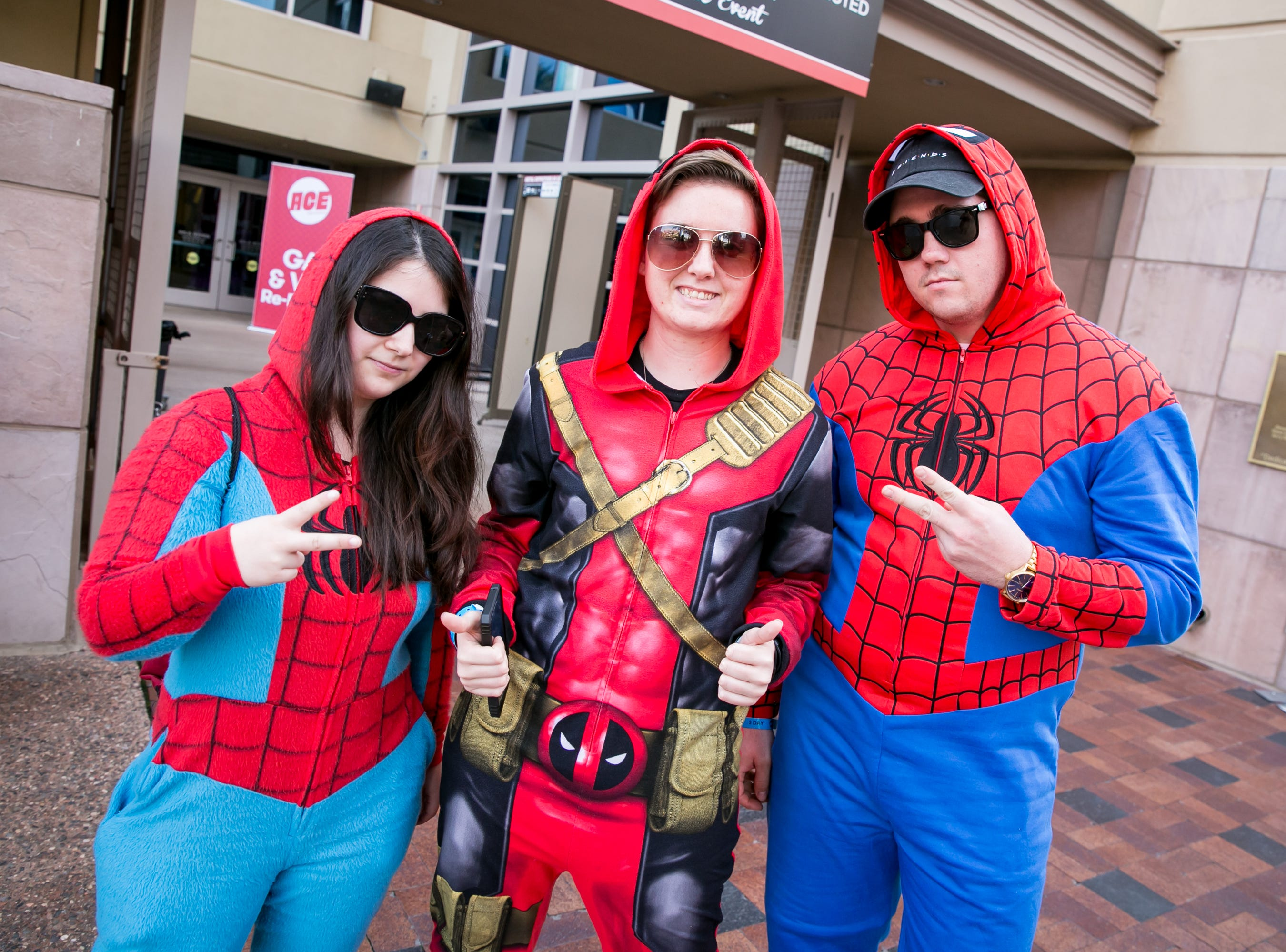 This crew kept it cool during Ace Comic Con at Gila River Arena in Glendale on Sunday, Jan. 13, 2019.