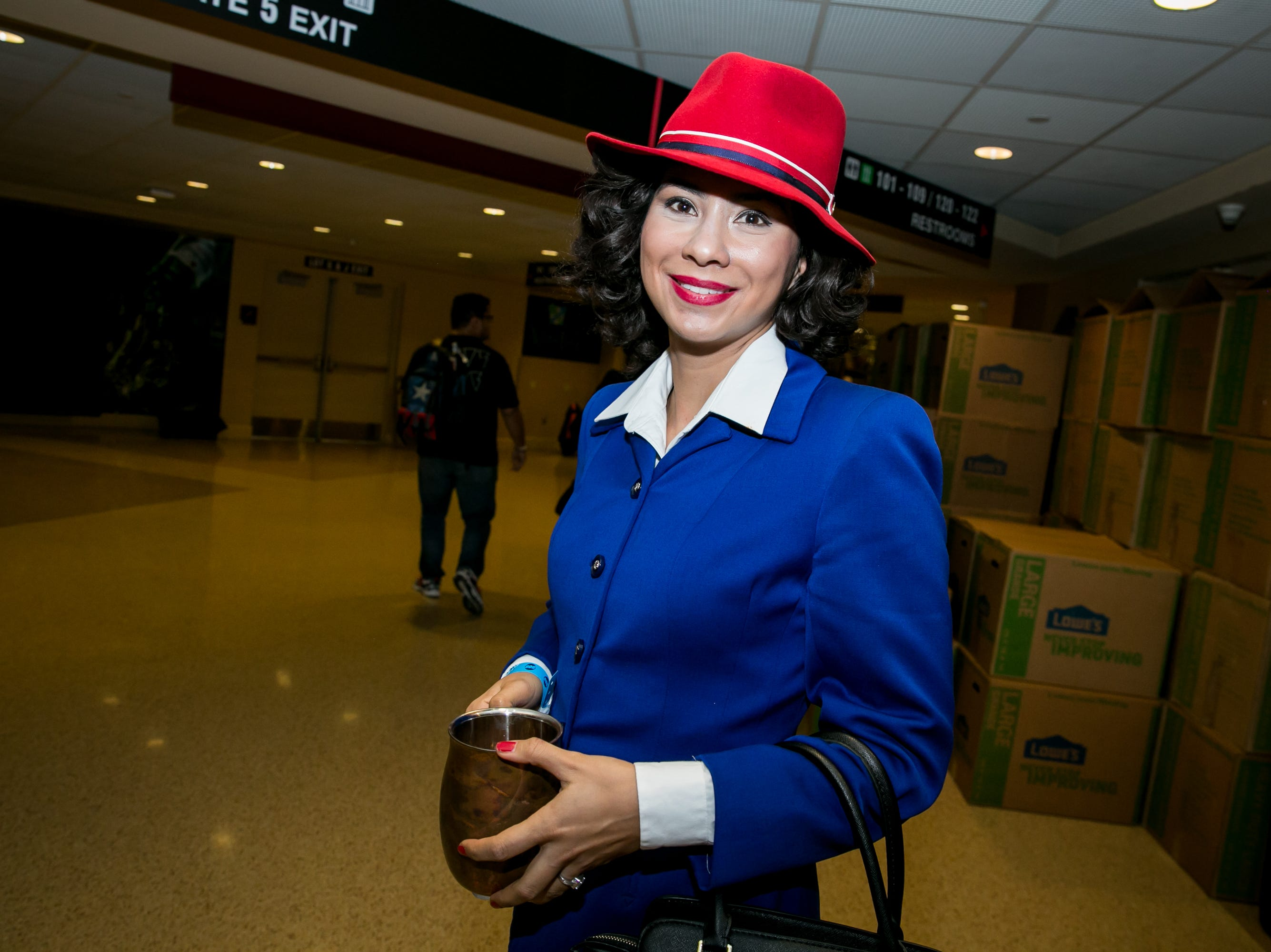Peggy Carter looked fabulous during Ace Comic Con at Gila River Arena in Glendale on Sunday, Jan. 13, 2019.