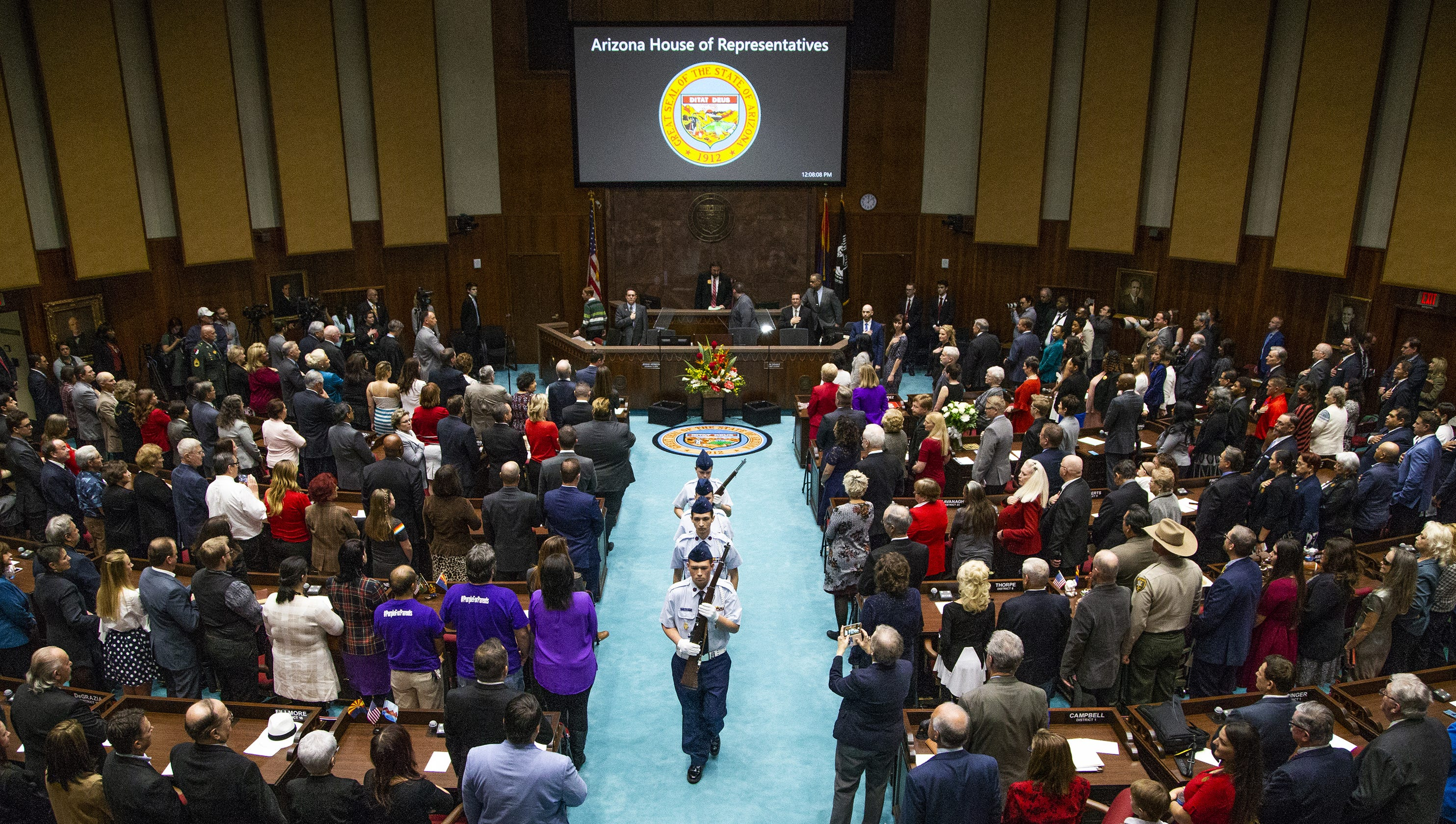 Arizona State Representatives >> Arizona Gov Doug Ducey Gives His 2019 State Of The State Speech