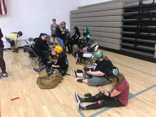 About 10 women interested in joining the Arizona Roller Girls showed up to the meet and greet in Mesa on Sunday, Jan. 13, 2019.