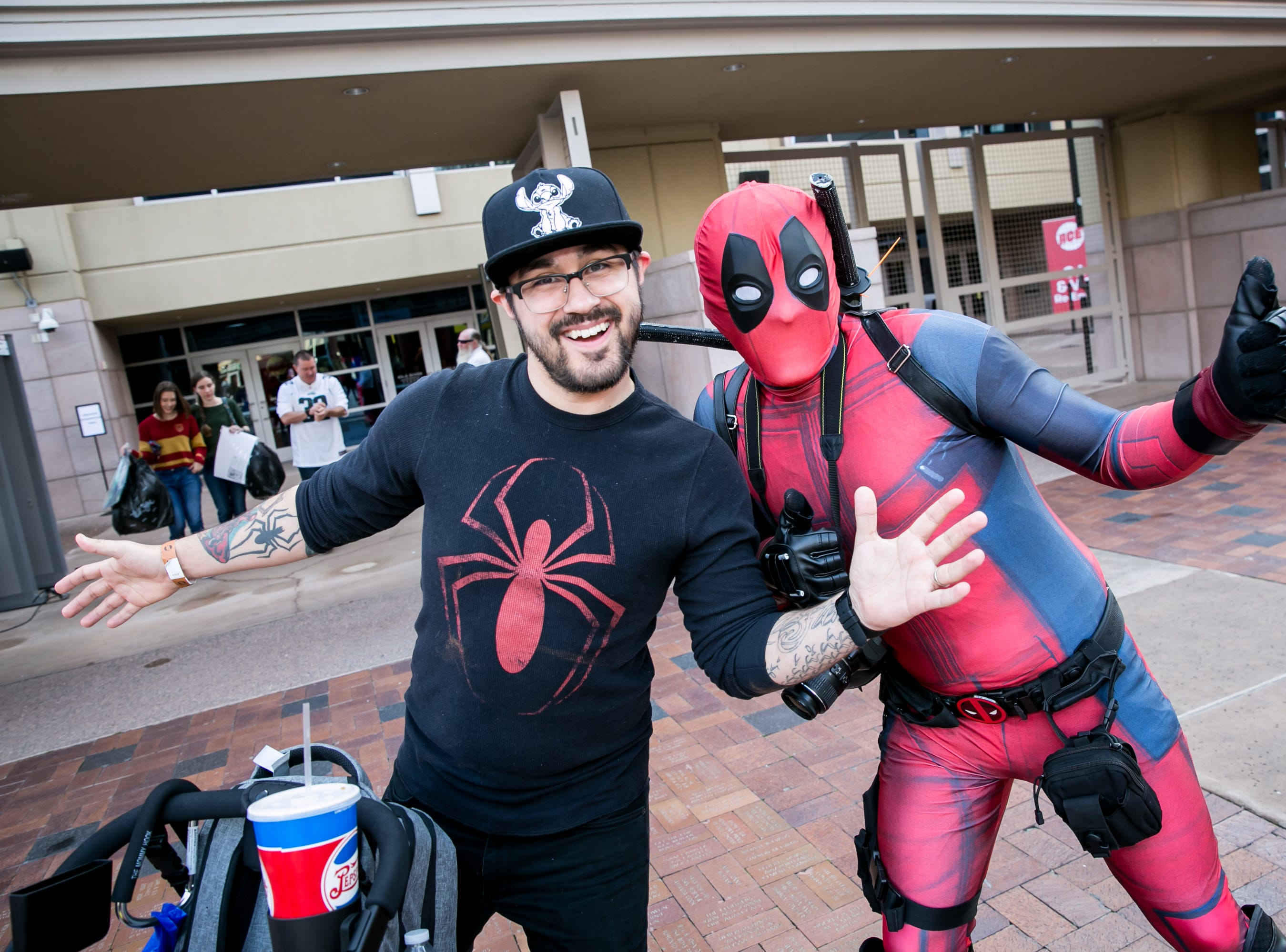 Spider-Man and Deadpool were the best of friends during Ace Comic Con at Gila River Arena in Glendale on Sunday, Jan. 13, 2019.