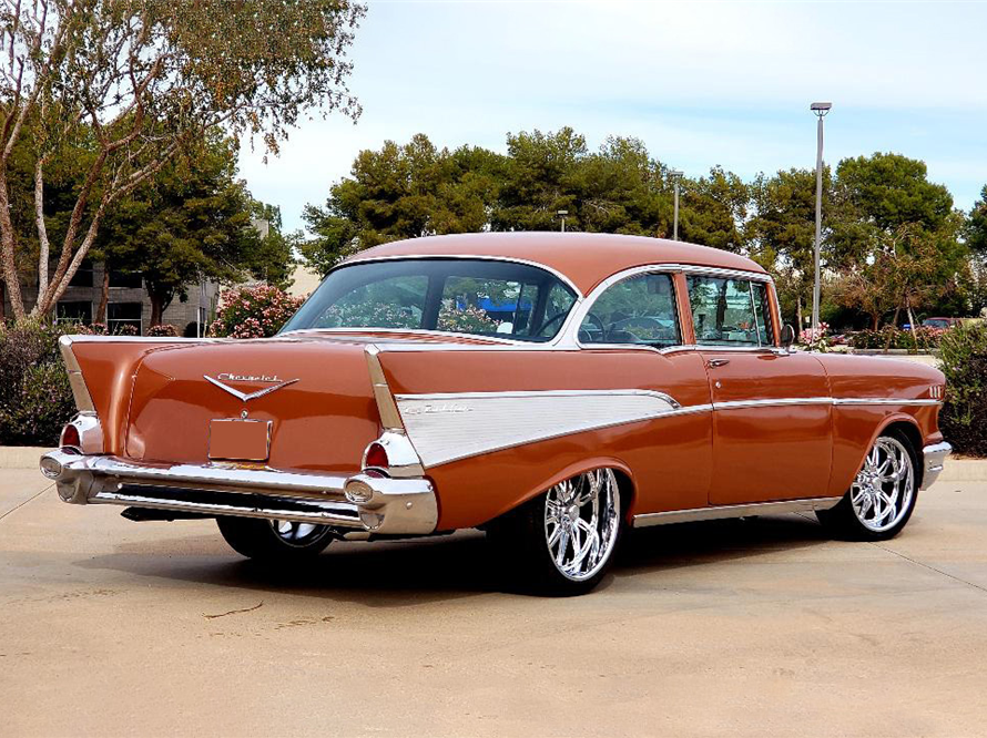 This 1957 Chevrolet Bel Air Custom 2-Door Post is being auctioned off at Barrett-Jackson in Scottsdale on Tuesday.