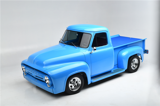 This 1955 Ford F-100 Custom Pickup is being auctioned off at Barrett-Jackson in Scottsdale on Tuesday.
