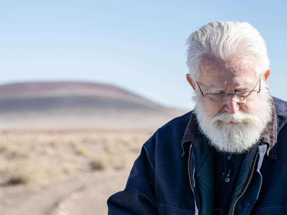 James Turrell at Roden Crater, his art installation in northern Arizona.
