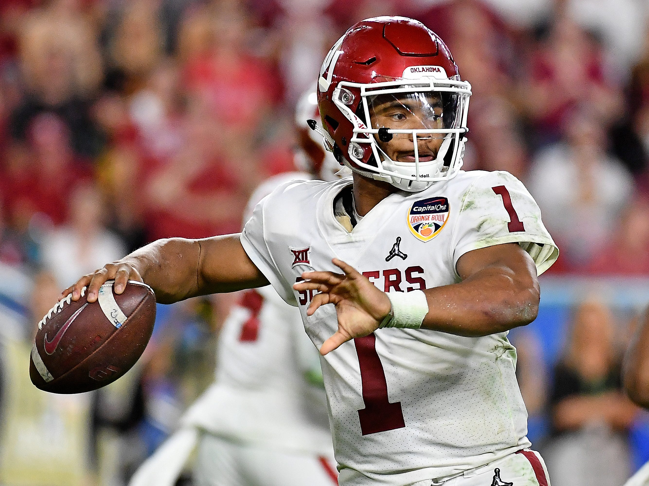 Oklahoma Sooners quarterback Kyler Murray (1) could be taking his talents to the NFL. Could he be a first-round pick?
