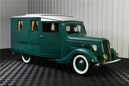 This 1937 Ford Housecar Camper is being auctioned off at Barrett-Jackson in Scottsdale on Tuesday.