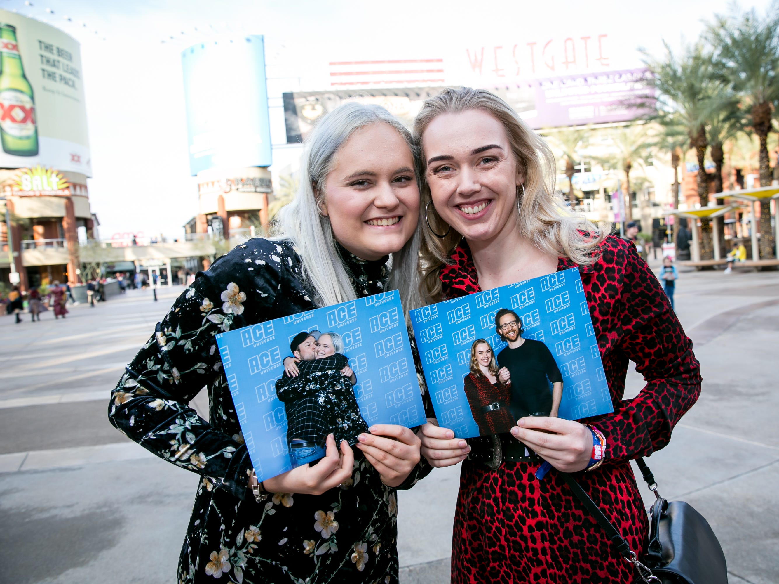 These ladies scored big at the meet and greets during Ace Comic Con at Gila River Arena in Glendale on Sunday, Jan. 13, 2019.