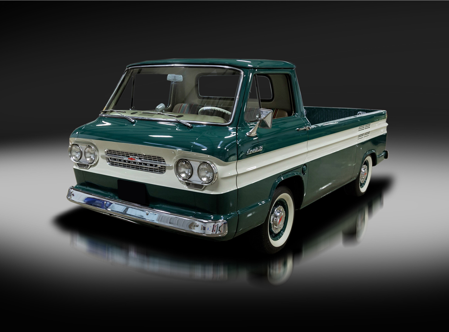 This 1962 Chevrolet Corvair 95 Rampside Pickup is being auctioned off at Barrett-Jackson in Scottsdale on Tuesday.