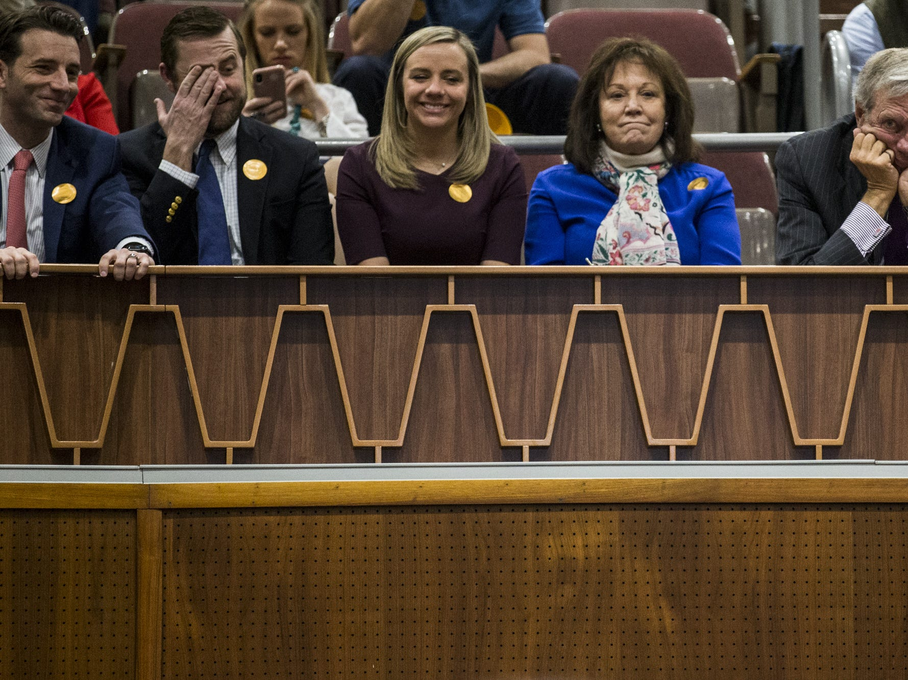 People sit in the gallery before Gov. Doug Ducey's State of the State address on  Jan. 14, 2019, at the Arizona House of Representatives Chambers in Phoenix.