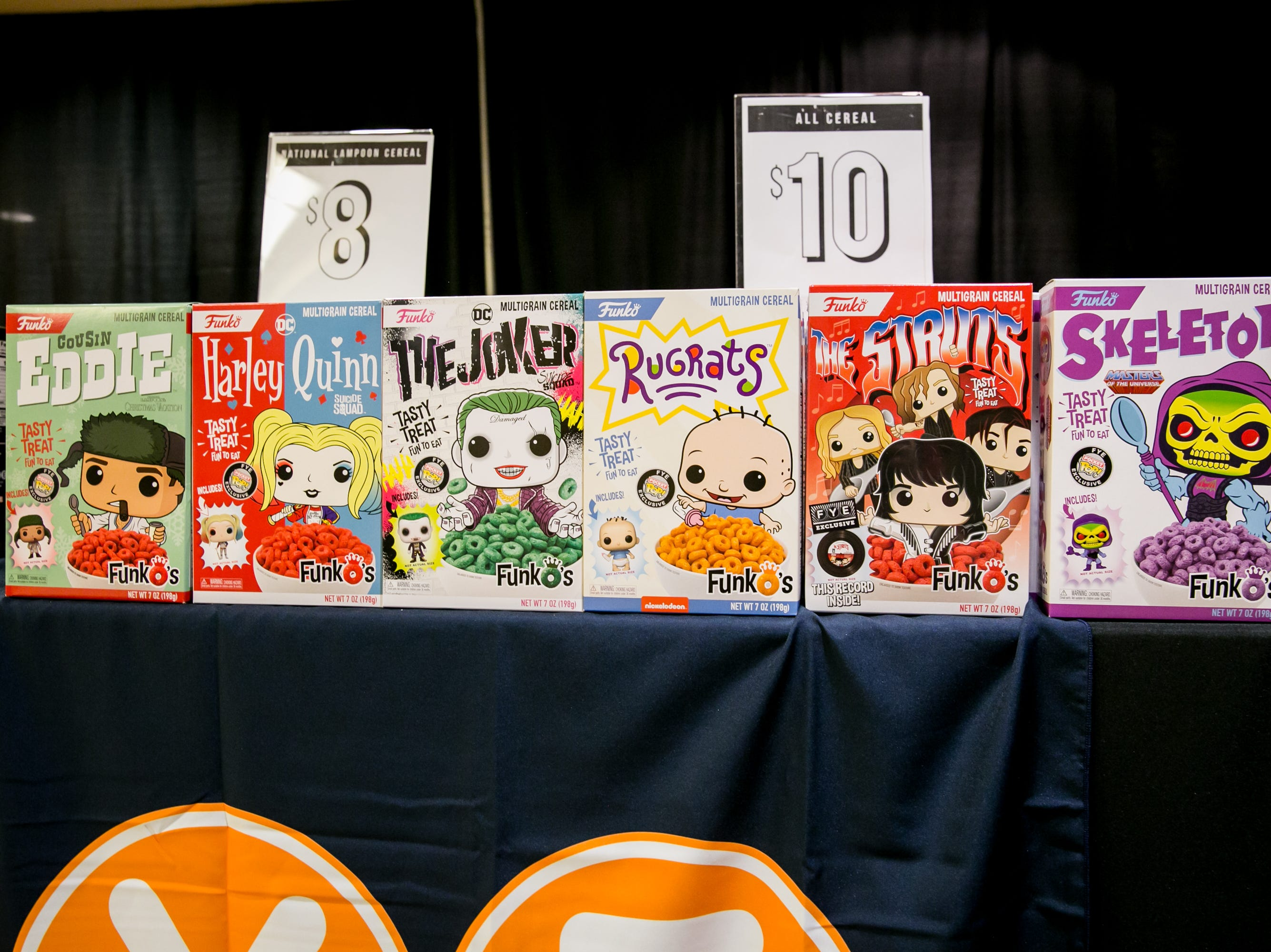 These Funko cereals were too cute during Ace Comic Con at Gila River Arena in Glendale on Sunday, Jan. 13, 2019.