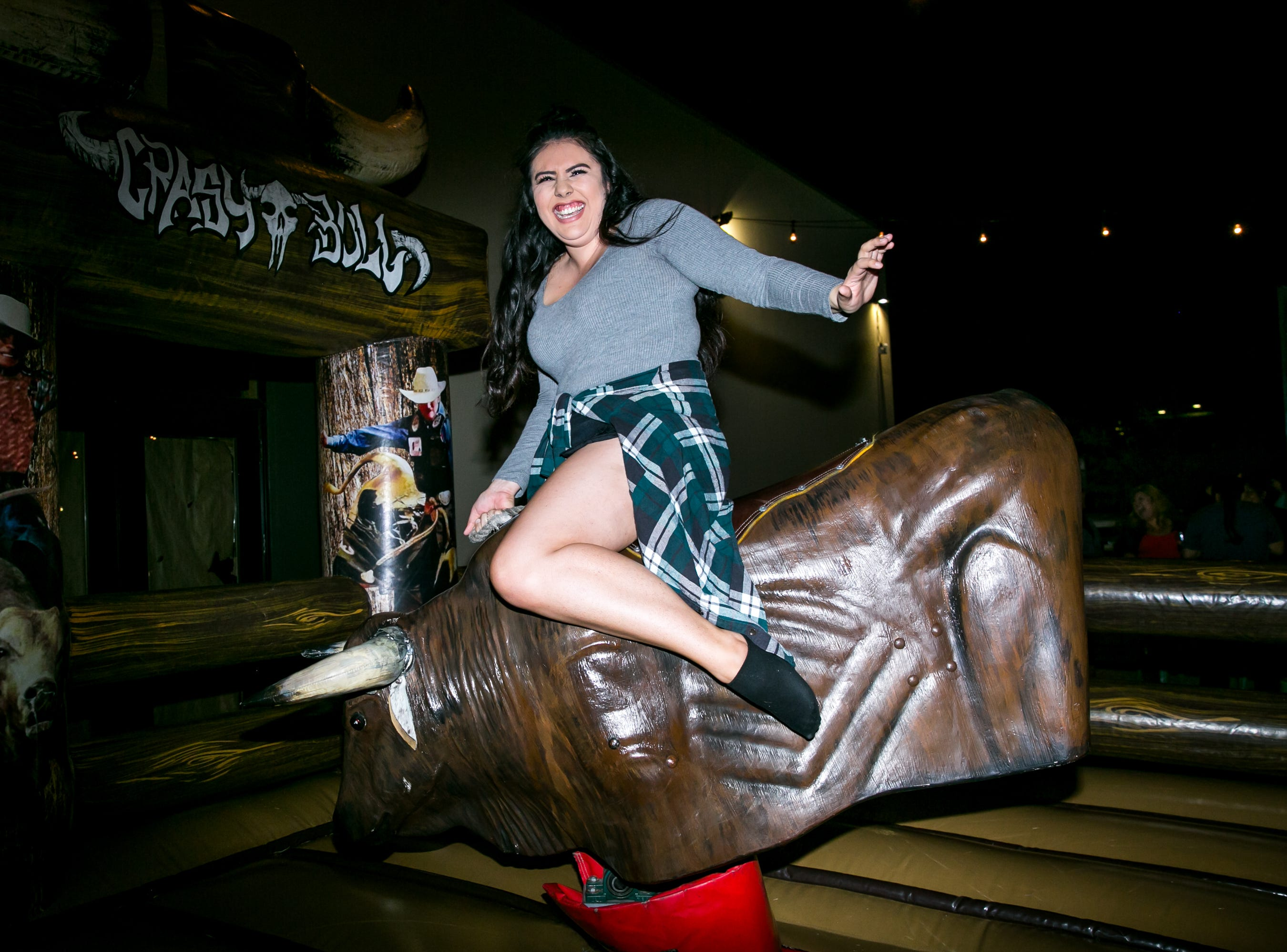 She grabbed the bull by the horns during the KMLE Country 90's Throwback at The Van Buren on Friday, Jan. 11, 2019.