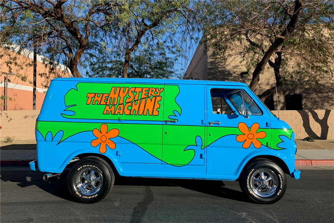 This 1968 Ford Econoline Mystery Machine Van is being auctioned off at Barrett-Jackson in Scottsdale on Tuesday.