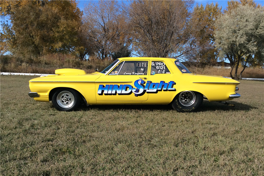 This 1962 Plymouth Savoy Race Car is being auctioned off at Barrett-Jackson in Scottsdale on Tuesday.