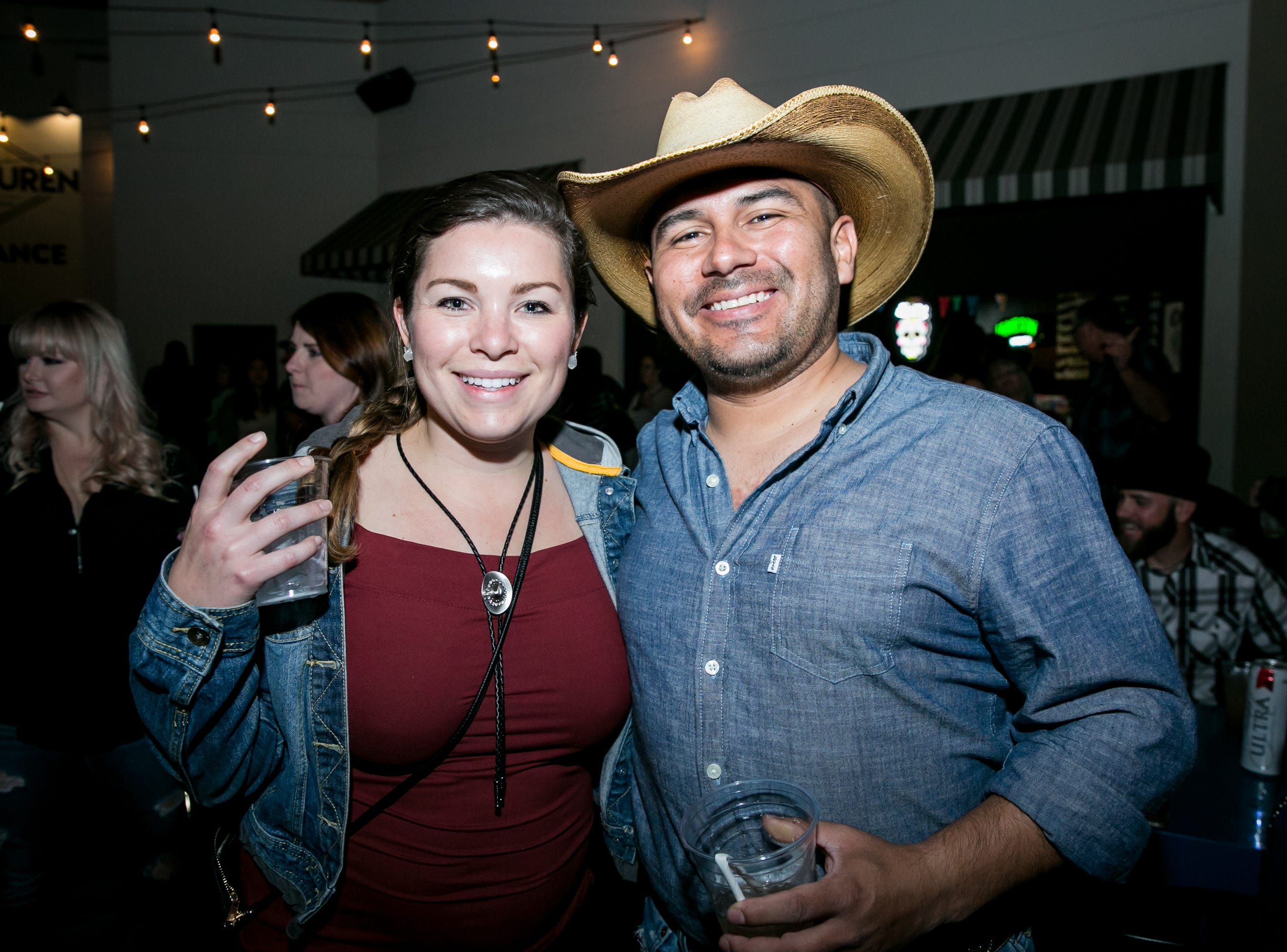 This couple looked great in denim during the KMLE Country 90's Throwback at The Van Buren on Friday, Jan. 11, 2019.